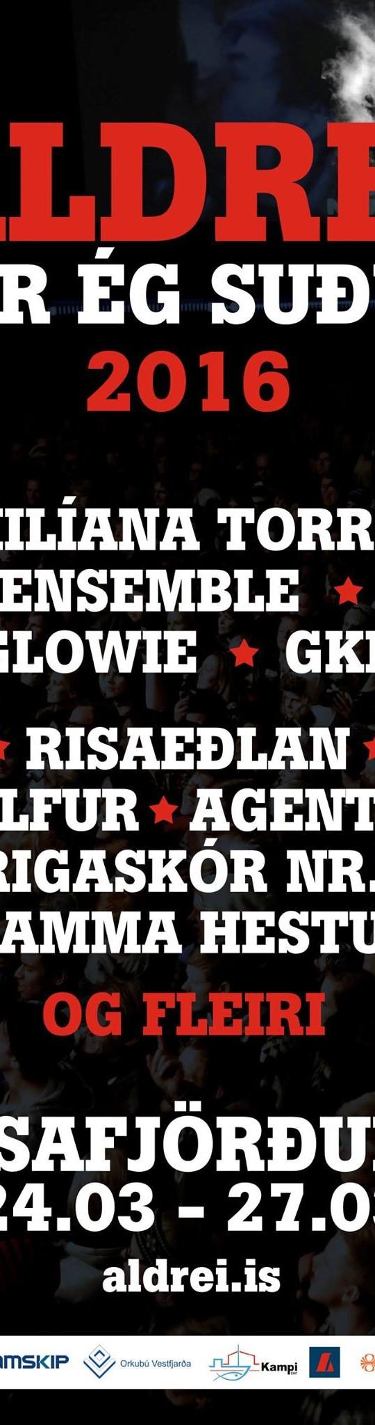 Fleiri bætast við á Aldrei fór ég suður
