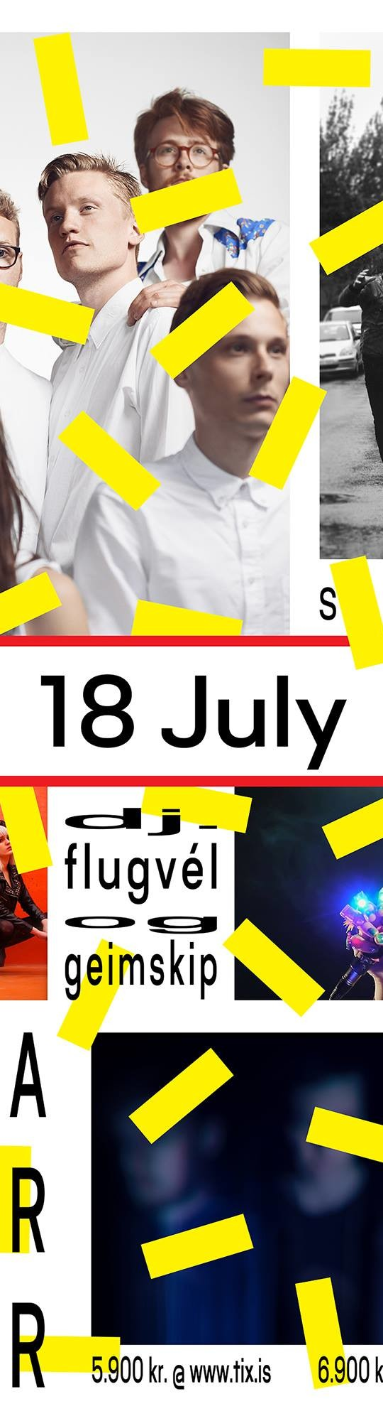 Lokatónleikar á Lunga laugardaginn 18. júlí
